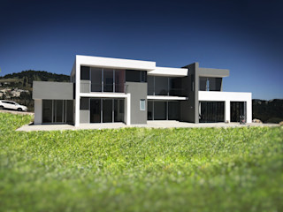 CASA-OCU Arqcubo Arquitectos Casas de campo Concreto Blanco