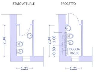 Arch. Sara Pizzo - Studio 1881 Moderne Badezimmer Keramik Blau
