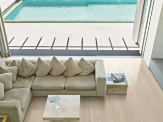Holz + Floor GmbH   Thomas Maile   Living with nature since 1997 Modern living room Wood