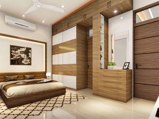 Ravi Prakash Architect Small bedroom Plywood Beige