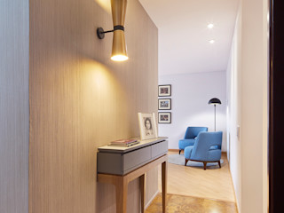 Alexandra Rozo /// Arquitectura Interior Modern Corridor, Hallway and Staircase
