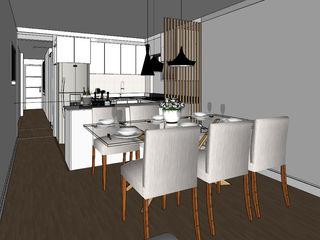 Departamento de 60 m2 Shirley Palomino ComedorAccesorios y decoración Madera Acabado en madera