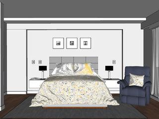 Dormitorio principal Shirley Palomino DormitoriosAccesorios y decoración Gris