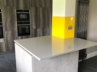 Hayling's Kitchen Splashbacks Glass Structures Limited КухняАксессуары и текстиль