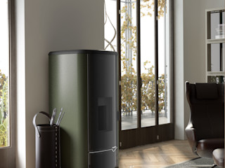 Limac Design Living roomFireplaces & accessories Leather Black