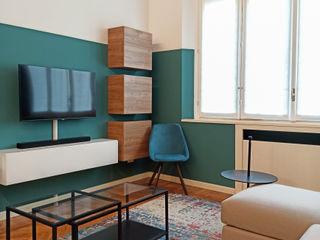 viemme61 غرفة المعيشةخزانات التلفزيون الجانبية Green