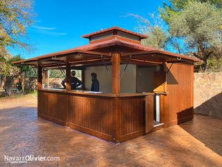 NavarrOlivier Bar & Klub Gaya Country Kayu Wood effect