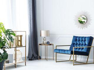 mirat.pl WohnzimmerCouch- und Beistelltische Metall Bernstein/Gold