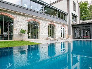 Spiegel-Infinity-Pool. Swimmingpools Manufacture Moderne Hotels