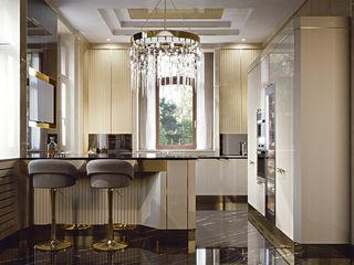 Essenza - Brummel Brummel Cucina attrezzata Legno massello Ambra/Oro