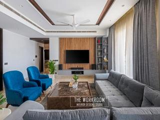 The Workroom Modern living room Wood Grey