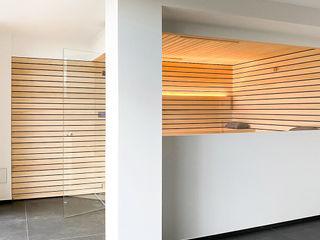 Designsauna mit Vis-à-Vis-Liegen   KOERNER Saunamanufaktur KOERNER SAUNABAU GMBH Sauna