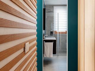 Casa ViVa manuarino architettura design comunicazione BagnoBagno di servizio Legno Blu