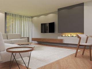 Vivenda   Santa Maria da Feira   PROJETO 3D Angelourenzzo - Interior Design Salas de estar minimalistas