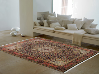 Persian House Classic style living room Bamboo Blue