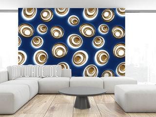 Retro Tapete Mowade Wände & BodenTapeten Blau