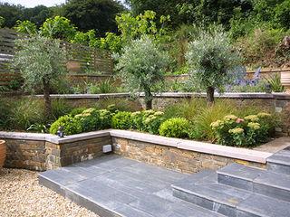 Listed Barn Conversion in Cornwall Arco2 Architecture Ltd Mediterranean style garden