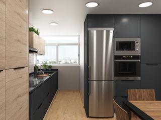 Un diseño diferente ZERMATT DECORACION S.L Módulos de cocina Aglomerado Negro