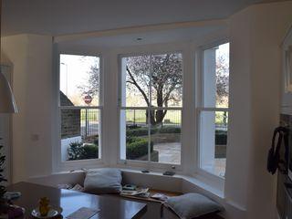 Sash window bay Repair A Sash Ltd Janelas de madeira Derivados de madeira Branco