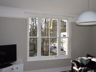Venetian sash window Repair A Sash Ltd Janelas de madeira Derivados de madeira Branco