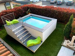 Piscina fuori terra di piccole dimensioni se hai poco spazio a disposizione in giardino, ecco delle soluzioni interessanti. Aquazzura Piscine Giardino con piscina