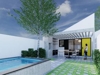 Arquitecto Rafael Viana Balbi - CDMX + Rio de Janeiro 小房子 磚塊 Yellow