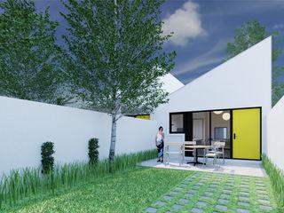 Arquitecto Rafael Viana Balbi - CDMX + Rio de Janeiro 庭院泳池 磚塊 Yellow