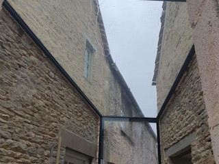 Fullbrook Manor Glass Structures Limited Коридор, прихожая и лестница в модерн стиле
