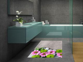 Adesivi per pavimenti effetto 3d INTERNI & DECORI BagnoDecorazioni PVC Grigio
