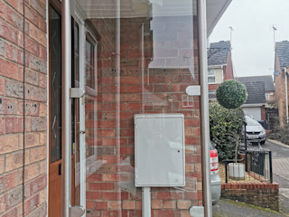 Glass Balustrade Wind Breaker in Leicester Origin Architectural Domki małe Szkło Przeźroczysty