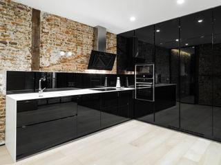 TOCONES DE MADERA GOS ARCH·LAB Cocinas integrales Negro