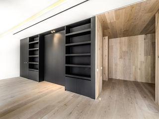 SECUENCIAS GOS ARCH·LAB Salones de estilo moderno Madera Acabado en madera