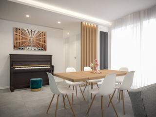 Un progetto di restyling per un appartamento ad Aversa arch. Lorenzo Criscitiello Ingresso, Corridoio & Scale in stile moderno Effetto legno