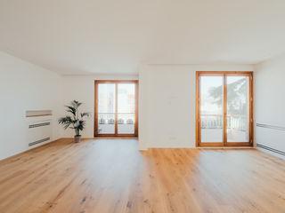 CASA JARDÍN GOS ARCH·LAB Salones de estilo escandinavo Madera Acabado en madera