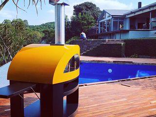 Ambientación del horno en la piscina Alfa Forni Piscinas de jardín