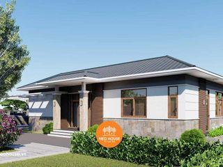 Mẫu nhà biệt thự mái thái 1 tầng hiện đại đẹp 15x13m tại Vũng Tàu NEOHouse