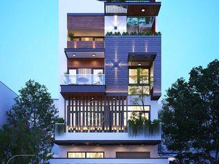 Mẫu nhà biệt thự phố mặt tiền 8m hiện đại đẹp tại HCM NEOHouse