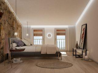 Proyecto de arquitectura, interiorismo y rehabilitación , Belltall Michele Mantovani Studio Dormitorios pequeños Piedra Multicolor