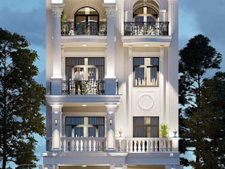 Mẫu thiết kế nhà biệt thự phố tân cổ điển 4 tầng tại HCM NEOHouse