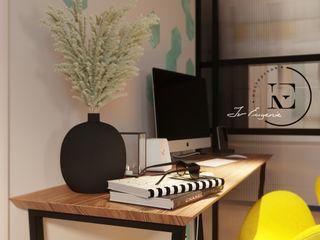 Графичный Soleray в ЖК Хорошевский. IvE-Interior Гостиные в эклектичном стиле Белый