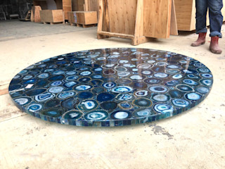 Stonesmiths - Redefining Stoneage غرفة المعيشةطاولات جانبية و صواني حجر Blue