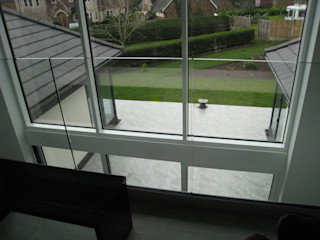 Internal Glass Balustrade Project Bristol Origin Architectural Balkon Szkło Przeźroczysty