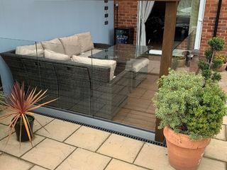 Frameless Glass Balustrade project in Bournemouth Origin Architectural Ogród zen Szkło Przeźroczysty