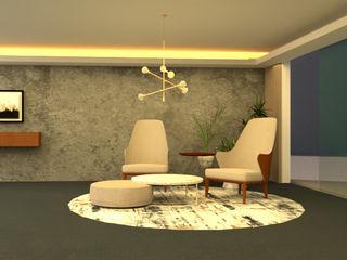 Ambientación de Lobby Shirley Palomino Salas/RecibidoresAccesorios y decoración Madera Gris