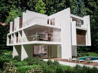 Bayern RRA Arquitectura Casas de estilo minimalista Madera Blanco