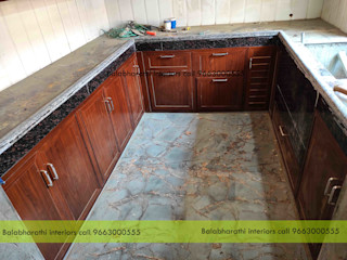 balabharathi pvc interior design CocinaUtensilios de cocina Plástico Acabado en madera