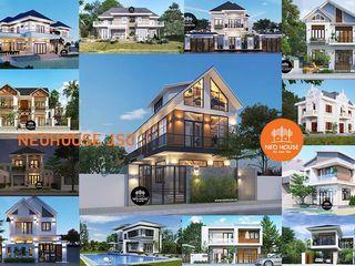 25 mẫu thiết kế biệt thự mini 2 tầng đẹp xu hướng của thời đại NEOHouse