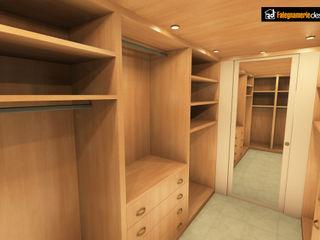 Interno Cabina Armadio Falegnamerie Design Camera da letto moderna Legno Marrone