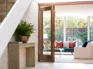 Ortega, Luscombe, Luscombe Valley, Poole, Dorset David James Architects & Partners Ltd Modern corridor, hallway & stairs