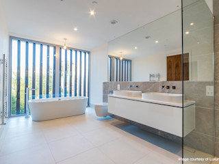 Oseleta, Luscombe, Luscombe Valley, Poole, Dorset David James Architects & Partners Ltd Modern bathroom